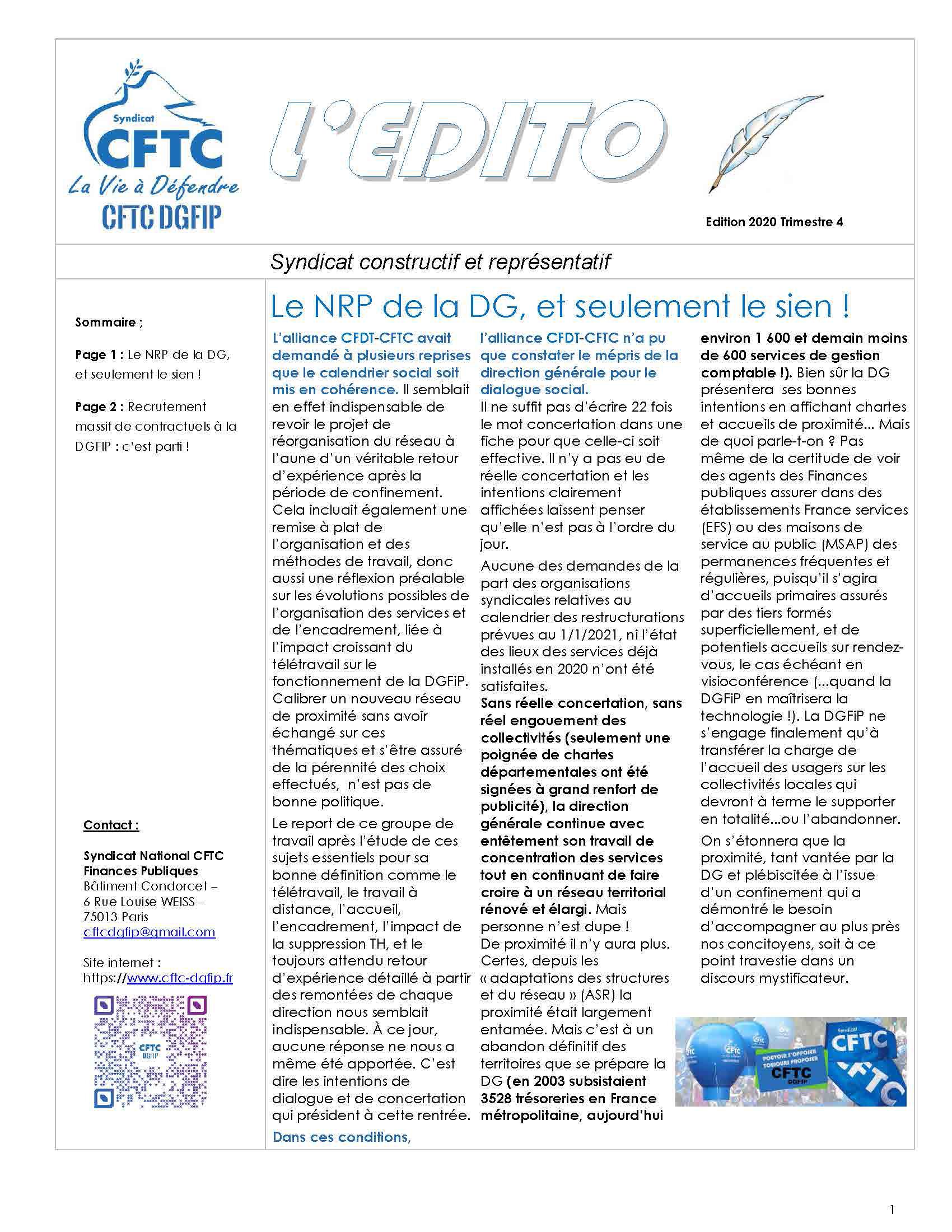 image de l'édito CFTC DGFIP